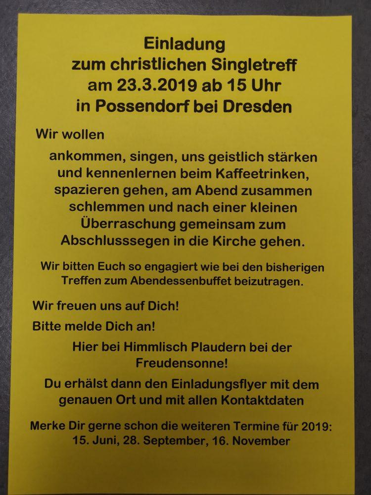 Dresden single treff
